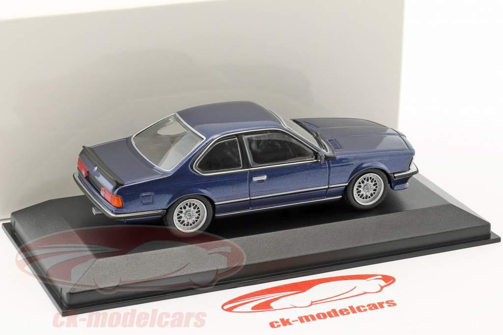 BMW 635 CSi année de construction 1982 bleu métallique 1:43 Minichamps