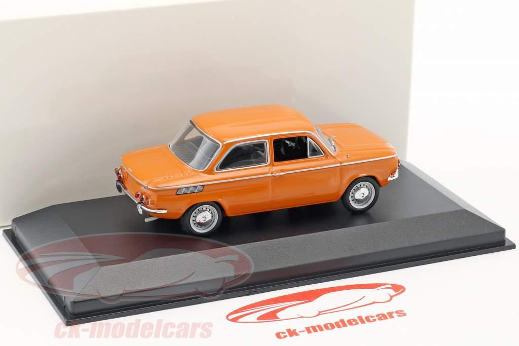 NSU TT Bouwjaar 1968 oranje 1:43 Minichamps