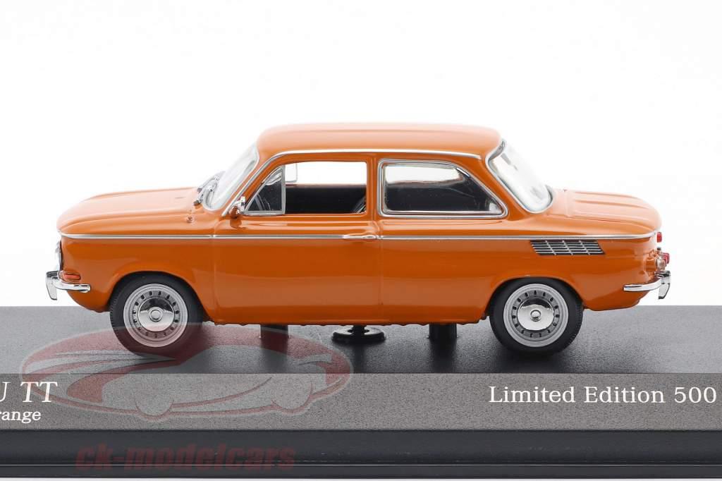 NSU TT ano de construção 1968 laranja 1:43 Minichamps