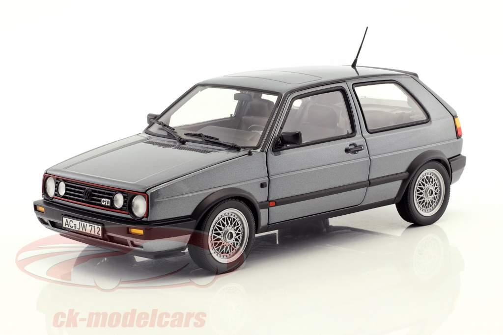 Volkswagen VW Golf II GTI année de construction 1990 gris métallique 1:18 Norev