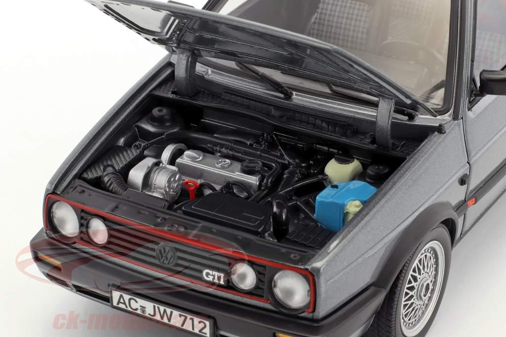 Volkswagen VW Golf II GTI year 1990 grey metallic 1:18 Norev