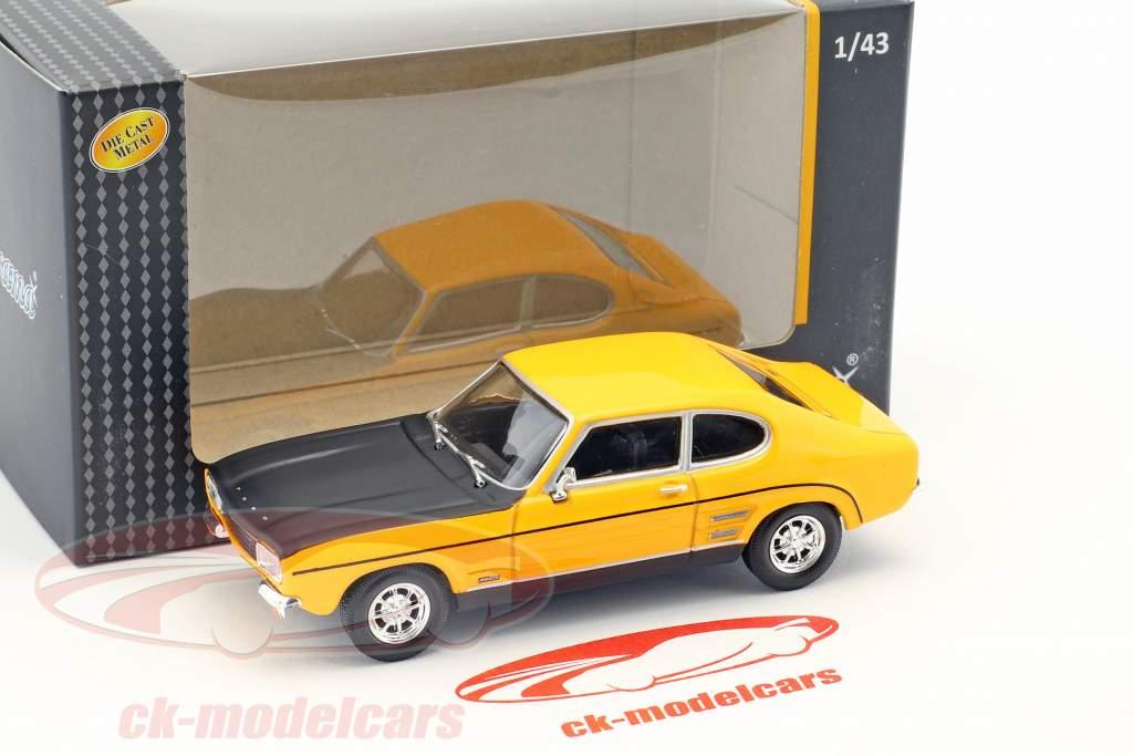 Ford Capri RS Bouwjaar 1970 geel / zwart 1:43 Cararama