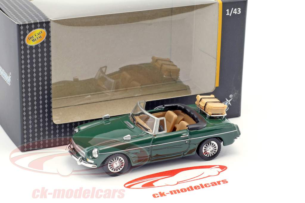 MGB convertible ouvert haut vert 1:43 Cararama