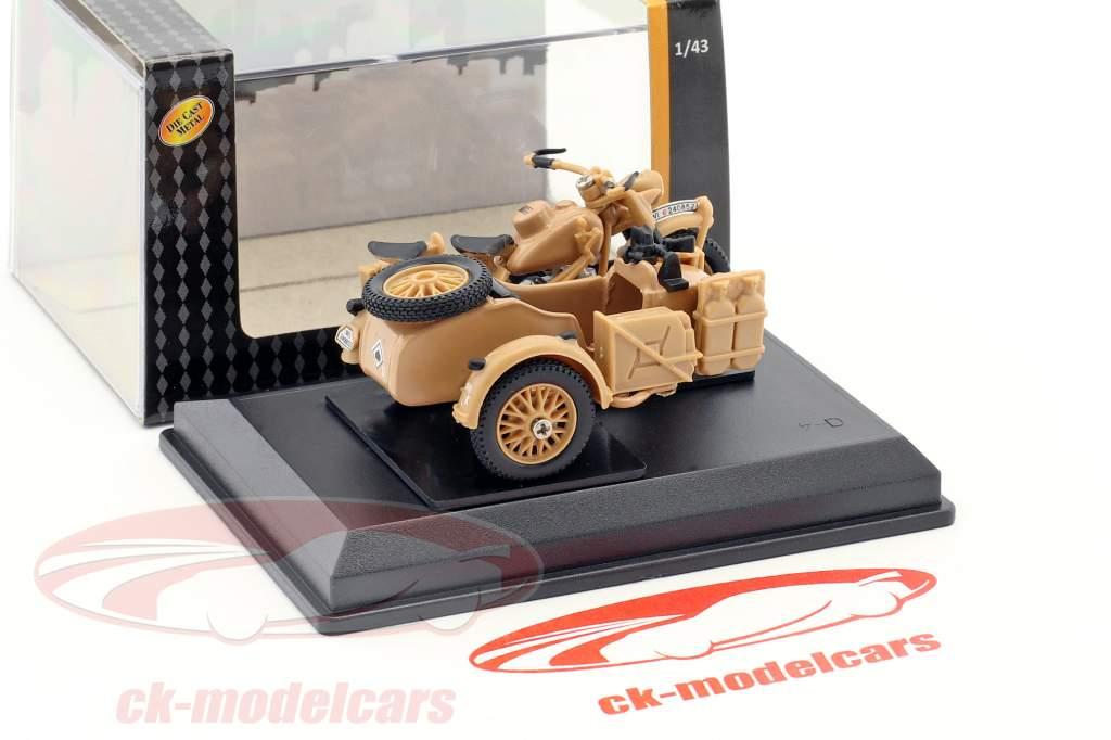 BMW B-R75 anno di costruzione 1941 Africa corpo Erwin Rommel beige 1:43 Cararama