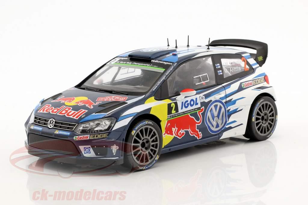 Volkswagen VW Polo R WRC  #2 4th Tour de Corse 2016 Latvala, Anttila 1:18 Ixo