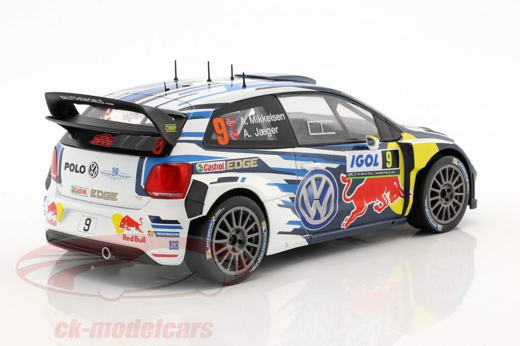 Volkswagen VW Polo R WRC #9 3 ° Tour de Corse 2016 Mikkelsen, Jaeger 1:18 Ixo