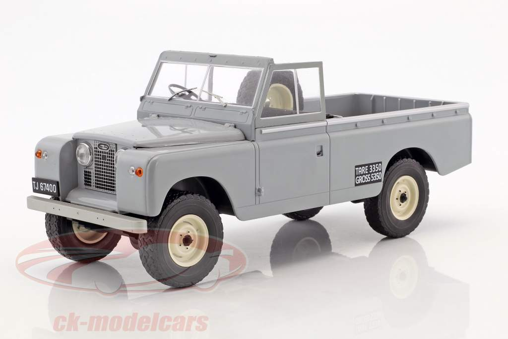 Land Rover 109 Series II Pick-Up année de construction 1959 gris 1:18 Model Car Group