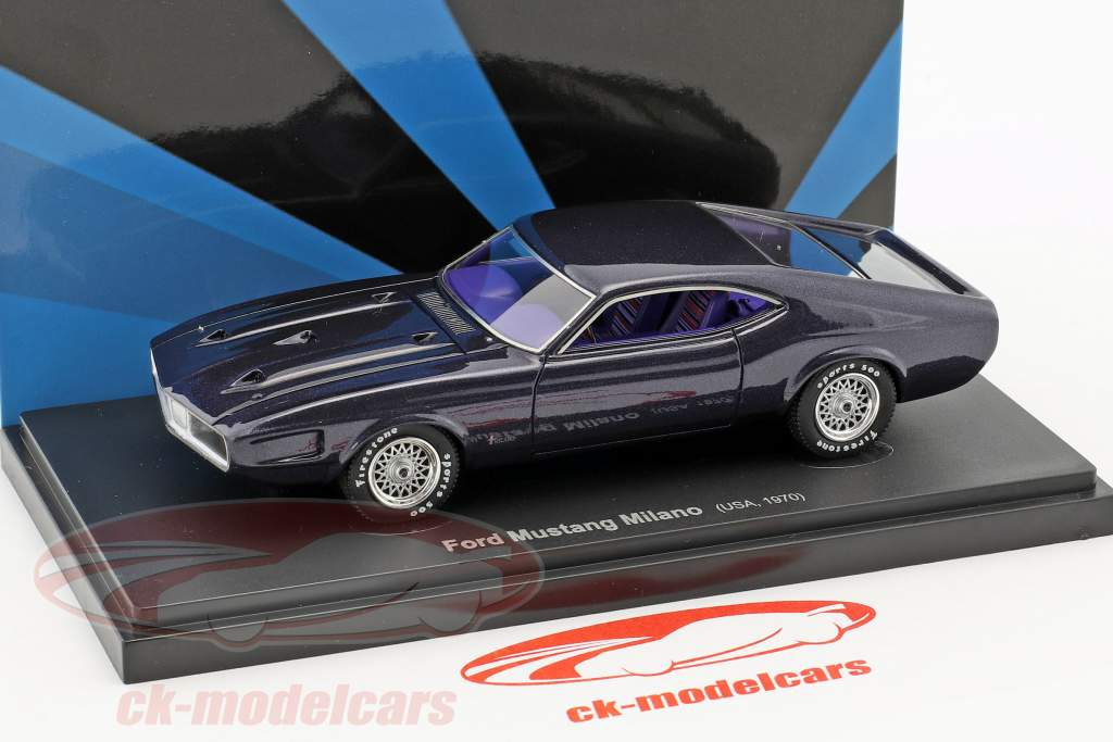 Ford Mustang Milano USA anno 1970 buio viola 1:43 AutoCult