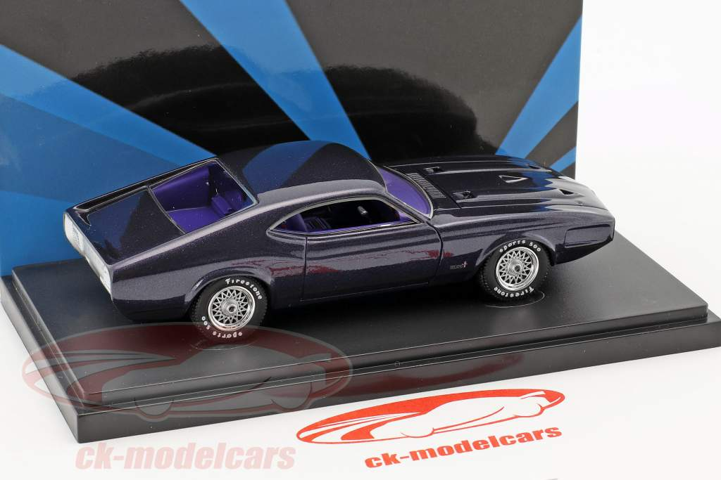 Ford Mustang Milano USA Baujahr 1970 dunkellila 1:43 AutoCult