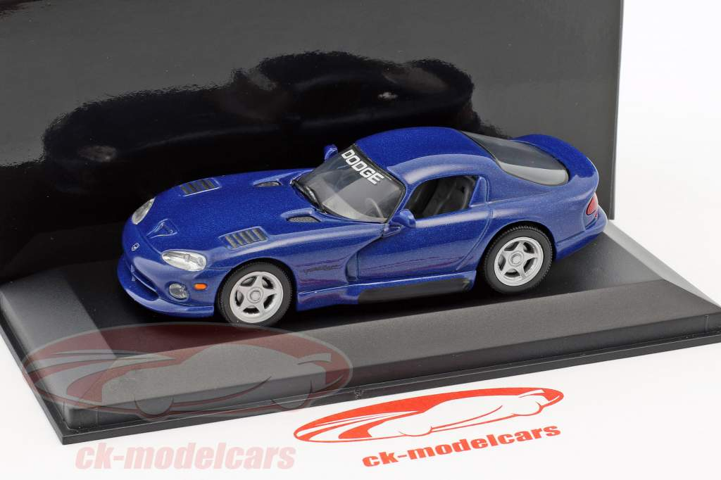 Dodge Viper Coupe dunkelblau metallic 1:43 Minichamps
