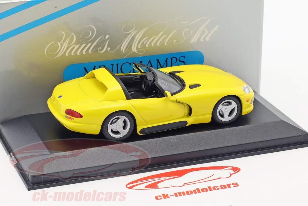 Dodge Viper Cabriolet yellow 1:43 Minichamps