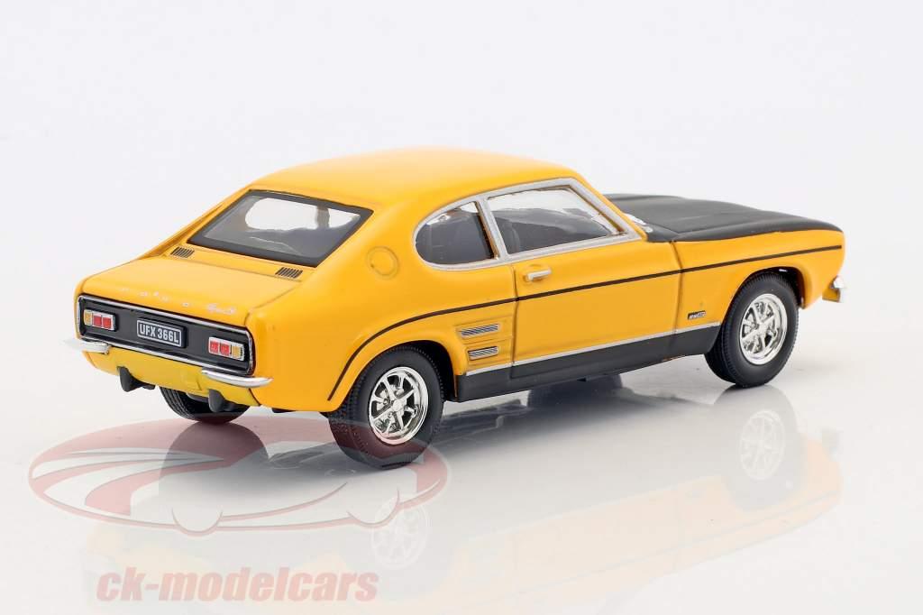 Ford Capri RS anno di costruzione 1970 giallo / nero 1:43 Cararama