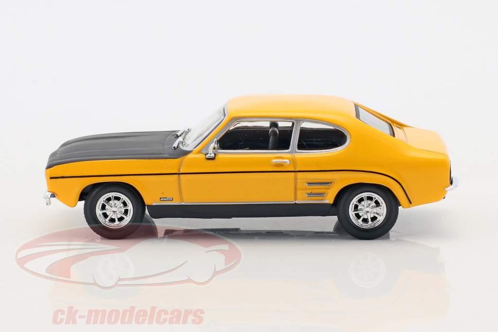 Ford Capri RS year 1970 yellow / black 1:43 Cararama