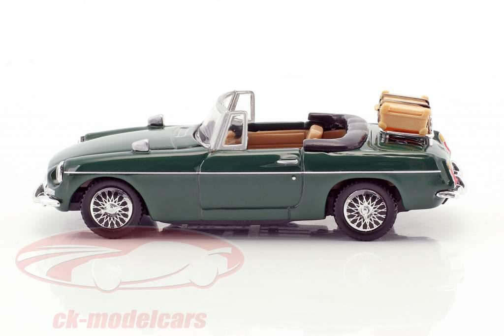 MGB convertibile aperto top verde 1:43 Cararama