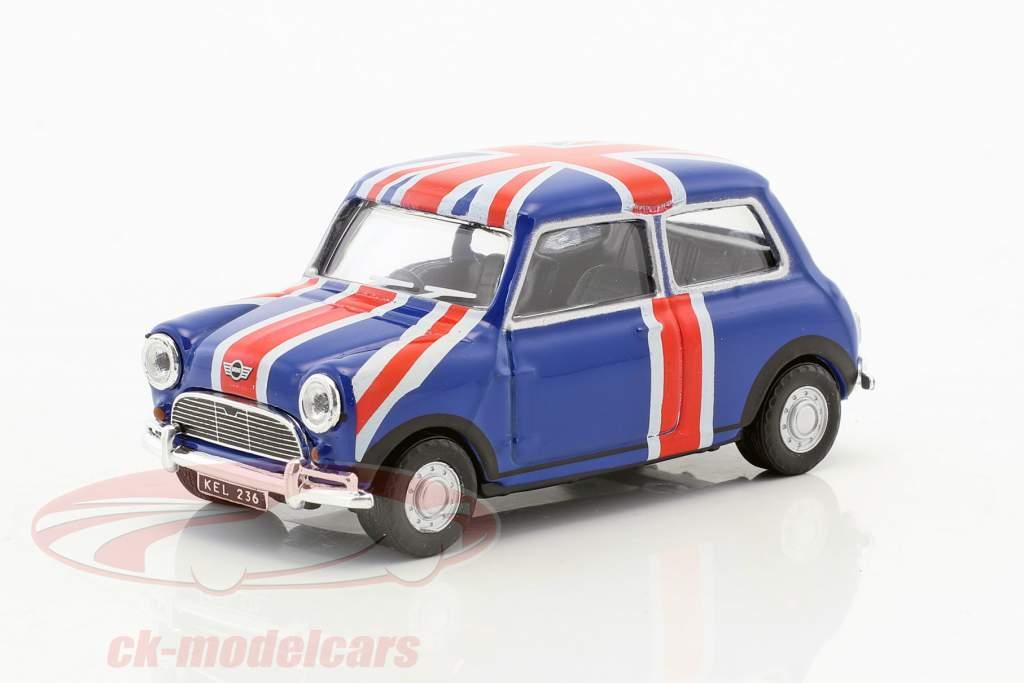 Mini Cooper Union Jack blauw / rood / wit 1:43 Cararama