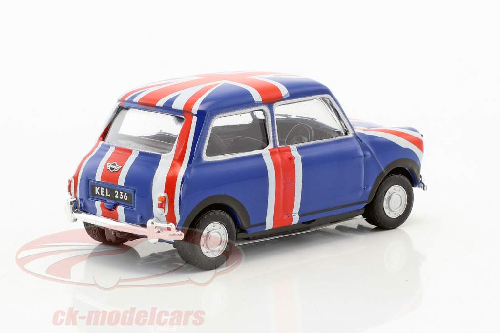 Mini Cooper Union Jack azul / vermelho / branco 1:43 Cararama