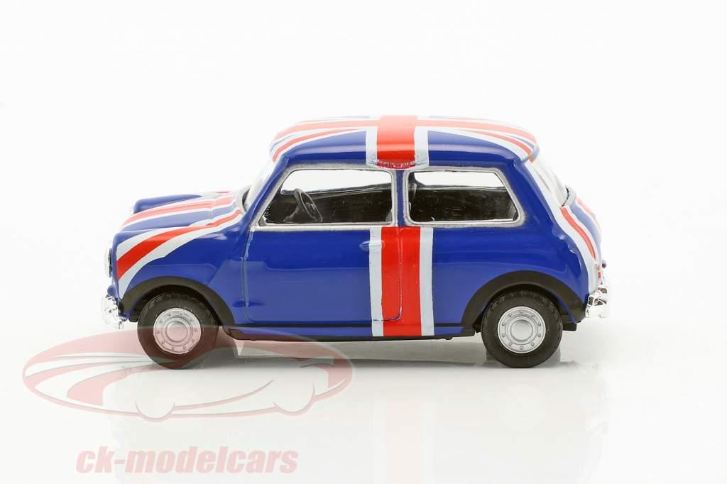 Mini Cooper Union Jack bleu / rouge / blanc 1:43 Cararama