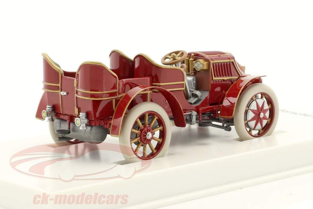 Lohner - Porsche Mixte auto Bouwjaar 1901 roodbruin 1:43 Porsche Museum