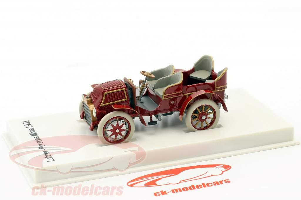 Lohner - Porsche Mixte bil Opførselsår 1901 rødbrun 1:43 Porsche Museum