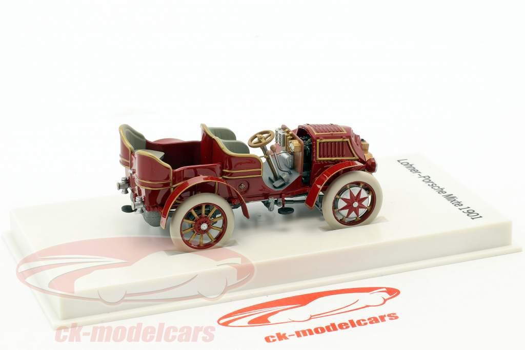 Lohner - Porsche Mixte coche año de construcción 1901 rojo-pardo 1:43 Porsche Museum