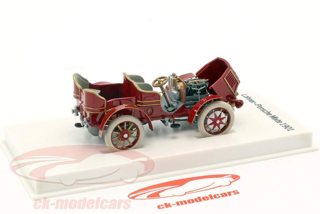 Lohner - Porsche Mixte voiture année de construction 1901 rouge-brun 1:43 Porsche Museum