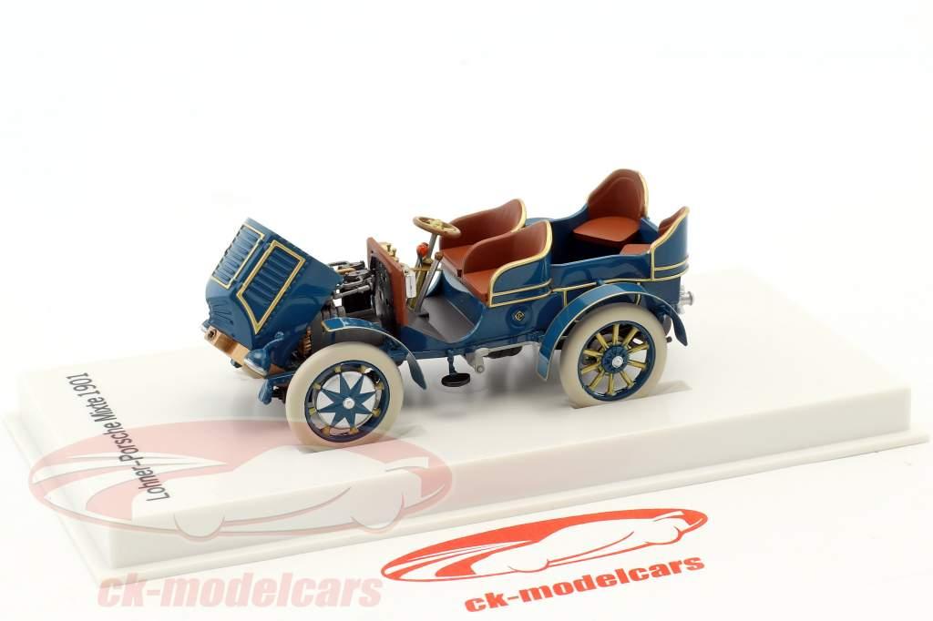 Lohner - Porsche Mixte Car year 1901 blue 1:43 Porsche Museum