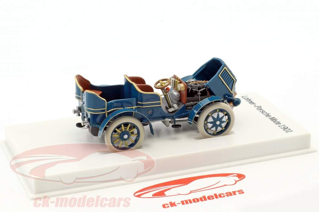 Lohner - Porsche Mixte Wagen Baujahr 1901 blau 1:43 Porsche Museum