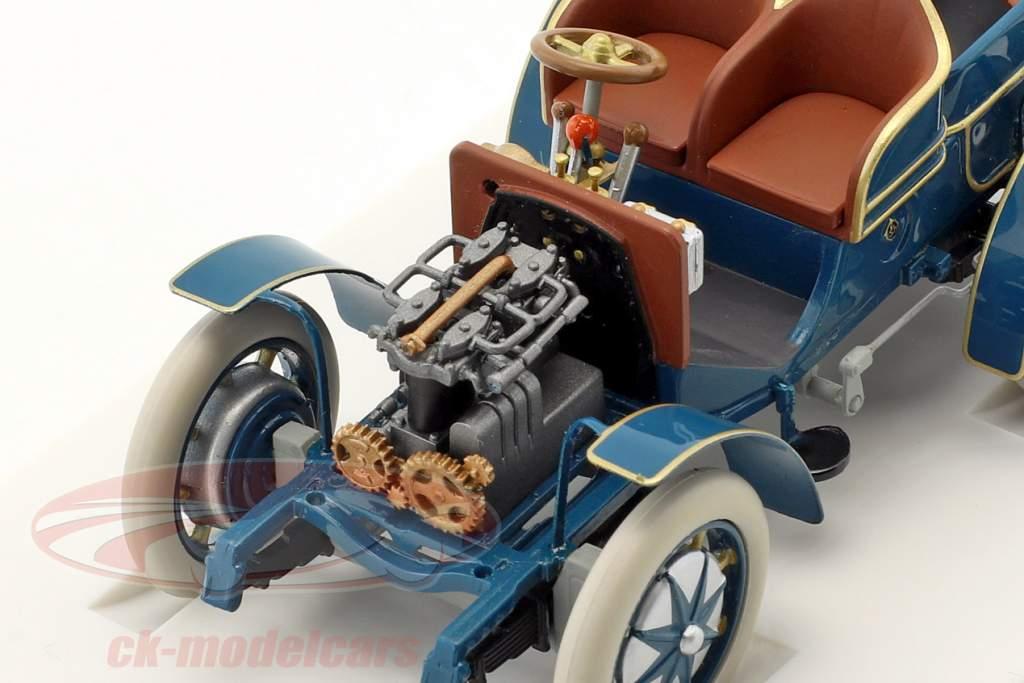 Lohner - Porsche Mixte auto Bouwjaar 1901 blauw 1:43 Porsche Museum