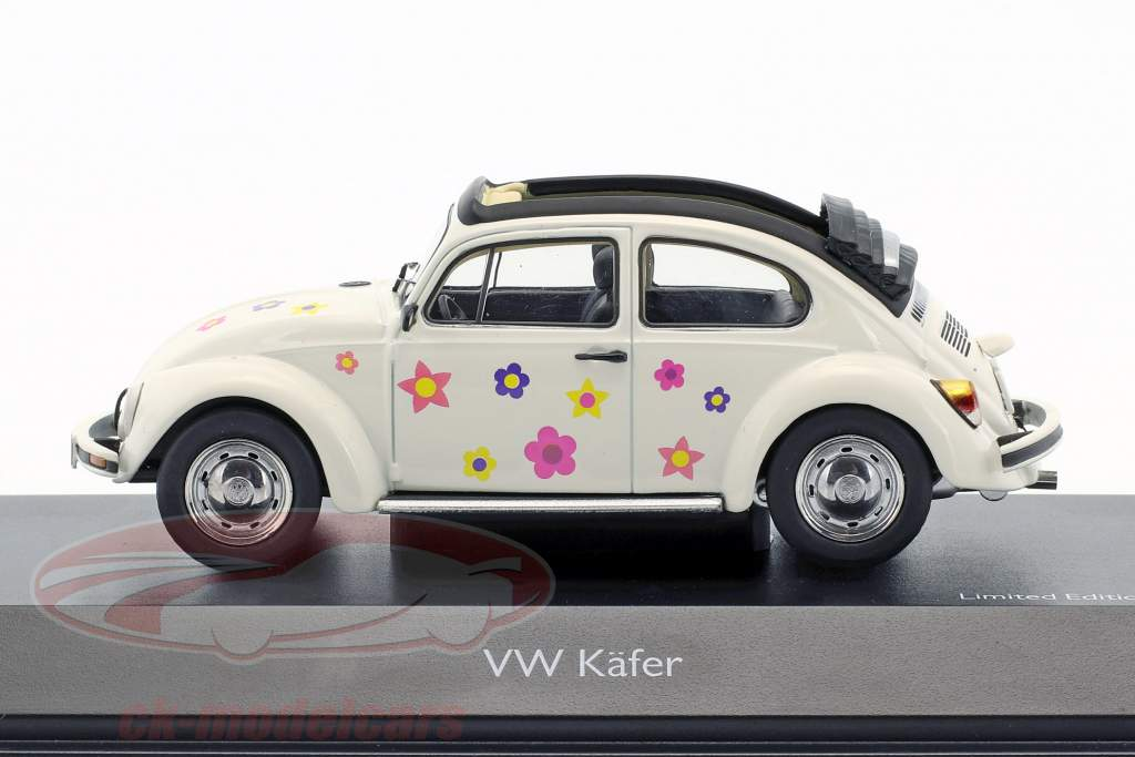Volkswagen VW Beetle Open Air Flower Decor white 1:43 Schuco