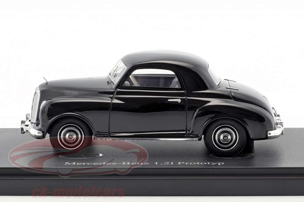 Mercedes-Benz 1,2L prototype year 1948 black 1:43 AutoCult