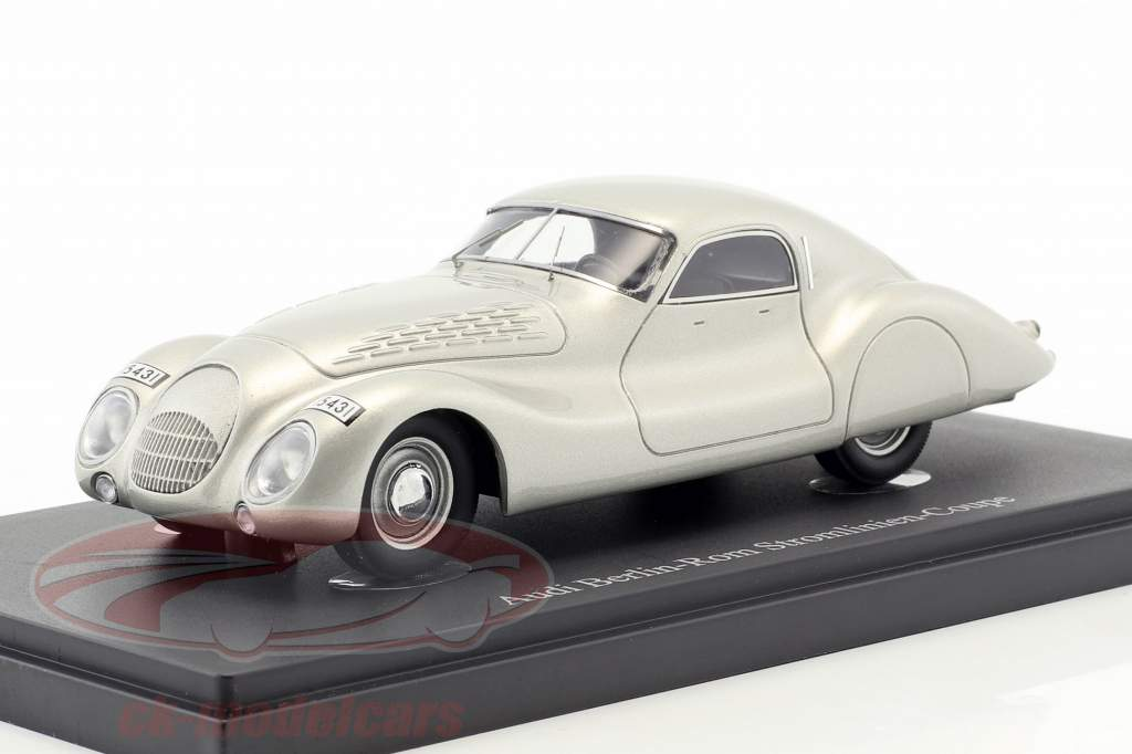 Audi Berlin-Rom Streamline Coupe year 1938 silver 1:43 AutoCult