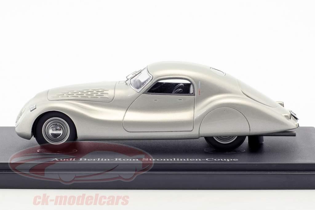 Audi Berlin-Rom Streamline Coupe anno di costruzione 1938 argento 1:43 AutoCult