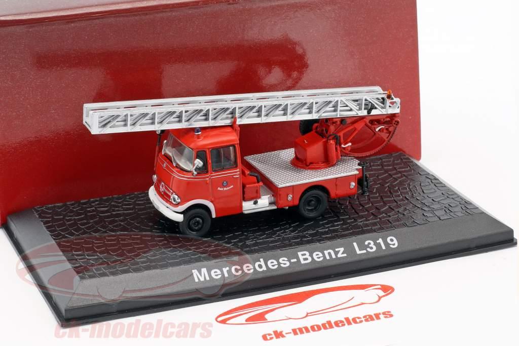 Mercedes-Benz L319 vigili del fuoco con scala anno di costruzione 1961 rosso 1:72 Atlas