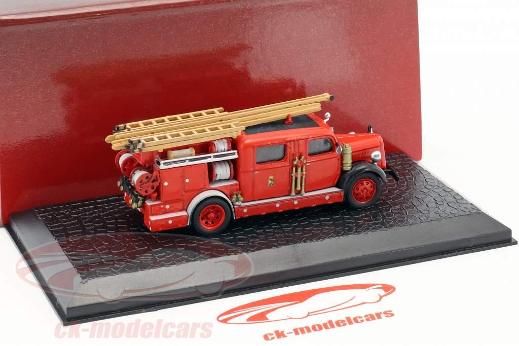 Volvo B 11 Feuerwehr Baujahr 1965 rot 1:72 Atlas