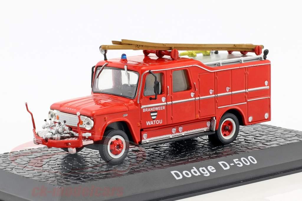 Dodge D-500 vigili del fuoco Watou (Belgio) anno di costruzione 1958 rosso 1:72 Atlas