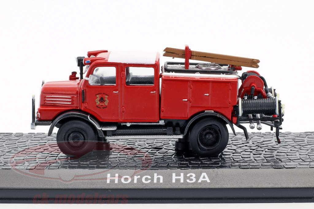 Horch H3A fire Department TLF 15 year 1952 red 1:72 Atlas