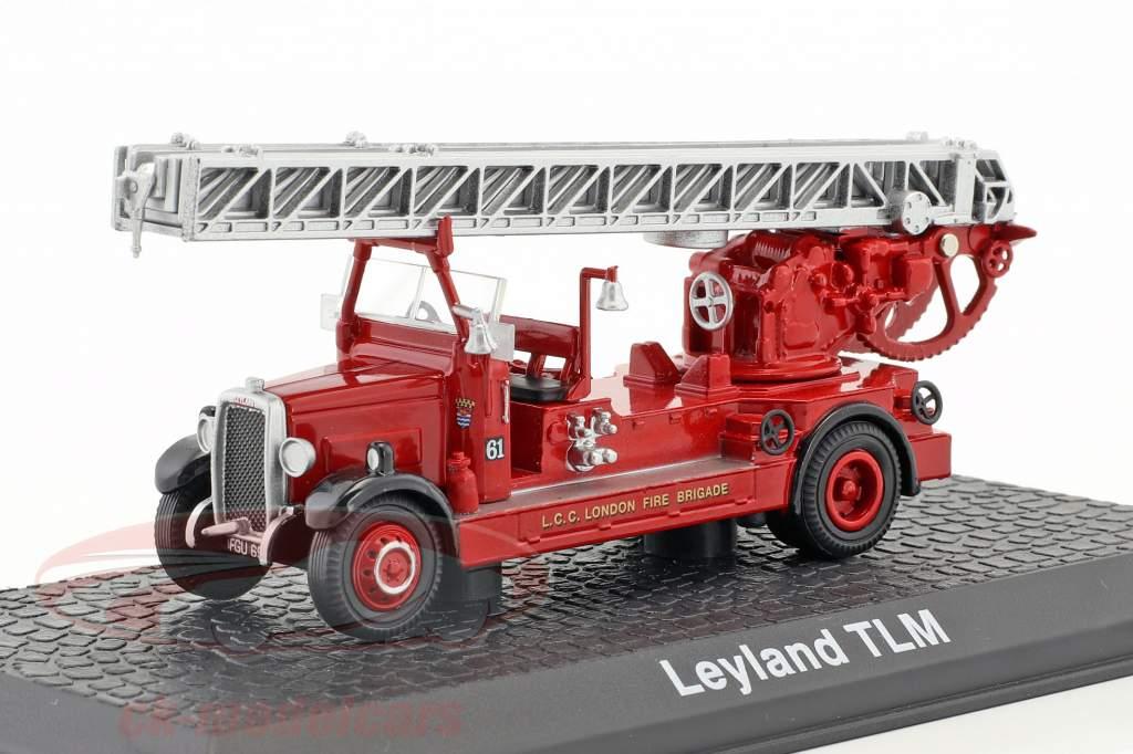 Leyland TLM vigili del fuoco Londra anno di costruzione 1935 rosso 1:72 Atlas
