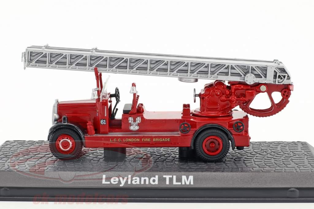 Leyland TLM Feuerwehr London Baujahr 1935 rot 1:72 Atlas
