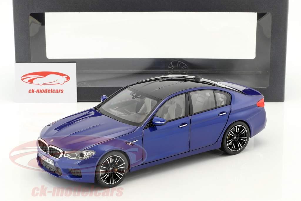 BMW M5 berline (F90) marina bay bleu 1:18 Norev
