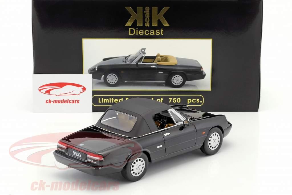 Alfa Romeo Spider 4 avec amovible softtop année de construction 1990 noir 1:18 KK-Scale
