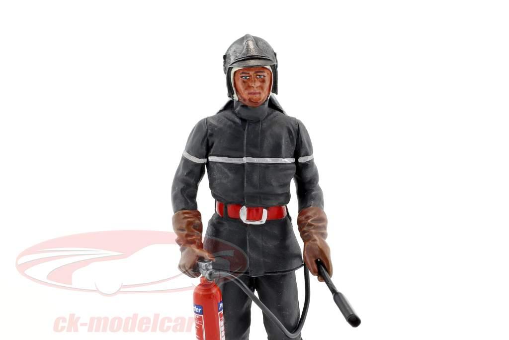 Jean-Luc Französischer Feuerwehrmann Figur 1:18 LeMansMiniatures