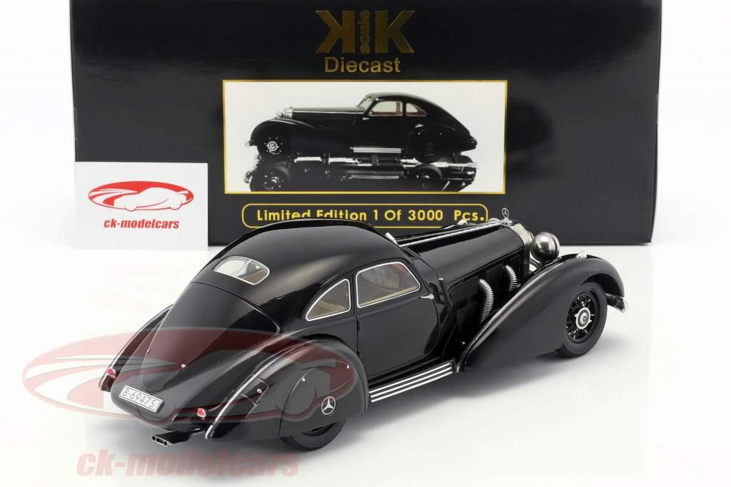Mercedes-Benz 540K Snelweg koerier Jaar 1938 zwart 1:18 KK-Scale