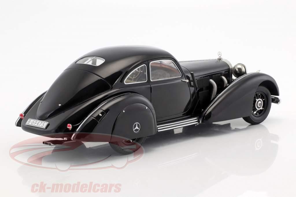 Mercedes-Benz 540K Highway corriere Anno 1938 nero 1:18 KK-Scale