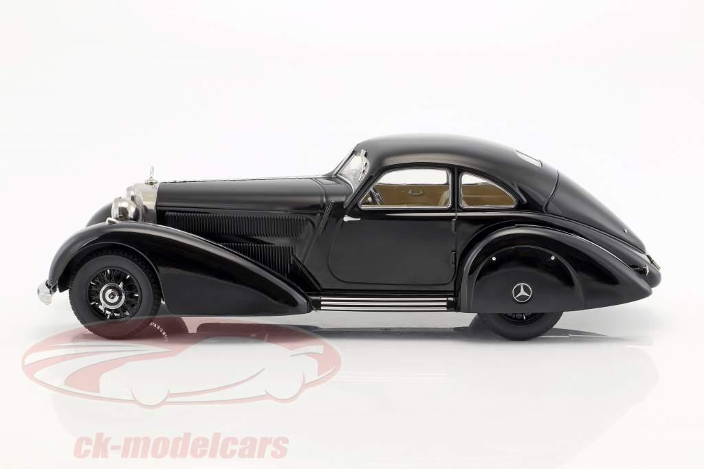 Mercedes-Benz 540K Hovedvej kurer År 1938 sort 1:18 KK-Scale