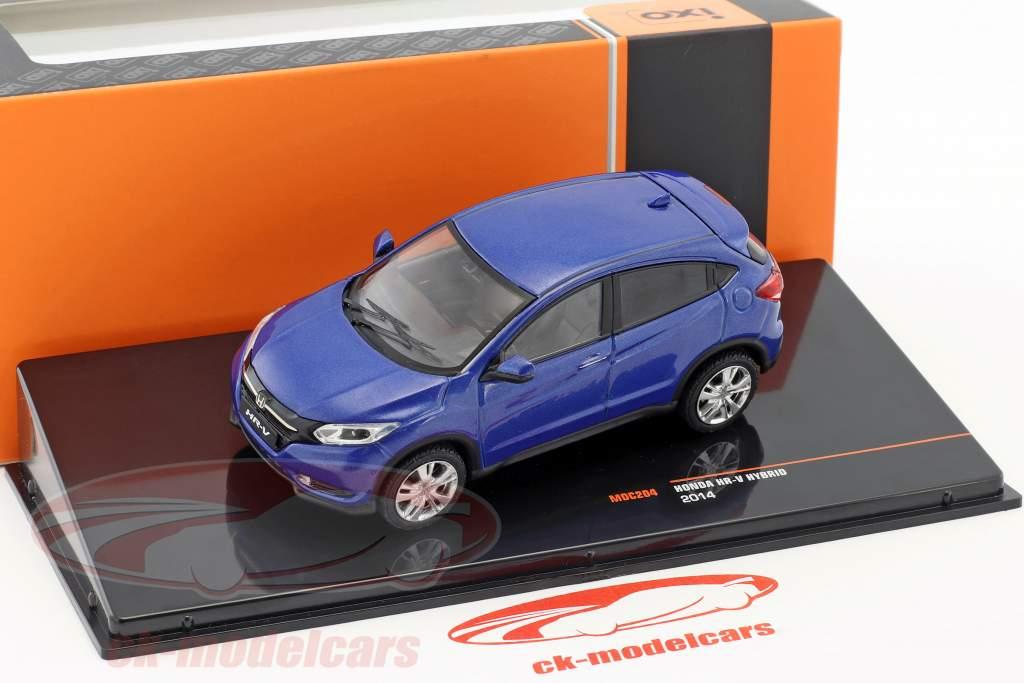 Honda HR-V Hybrid Bouwjaar 2014 blauw metalen 1:43 Ixo