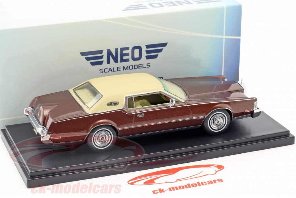 Lincoln Continental Mark IV year 1973 brown metallic / beige 1:43 Neo