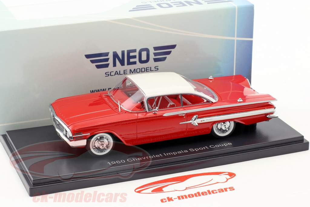 Chevrolet Impala Sport coupé année de construction 1960 rouge / blanc 1:43 Neo