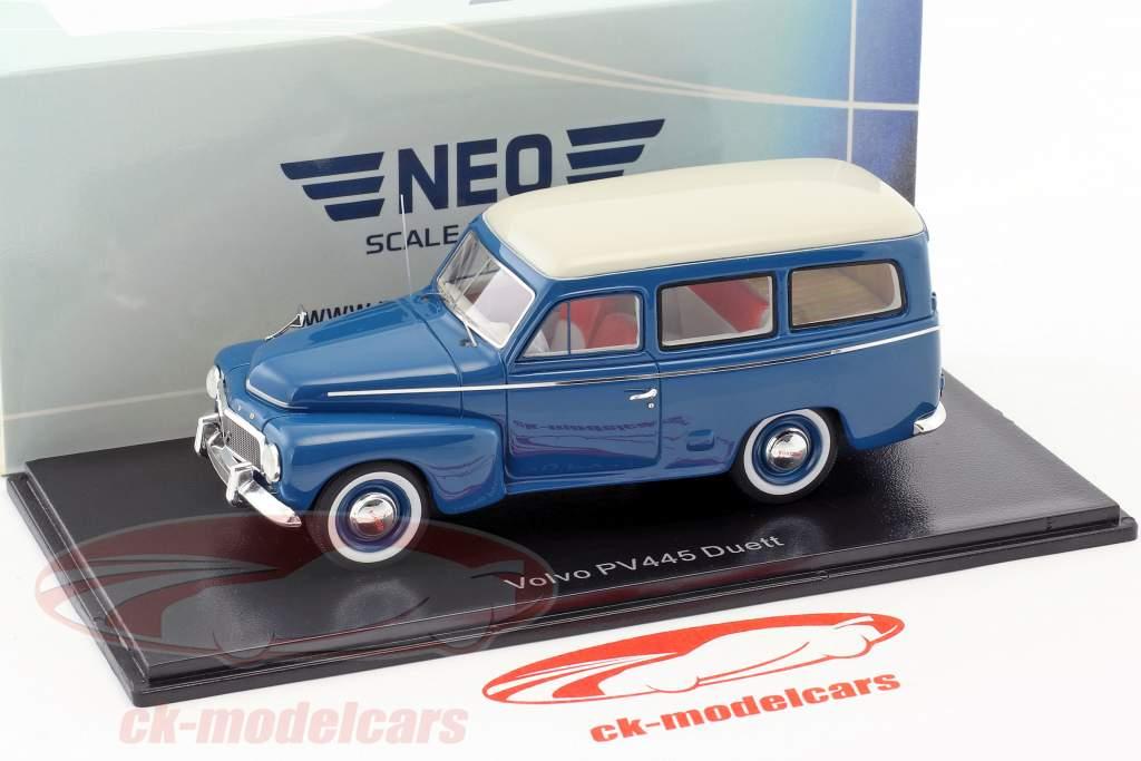 Volvo Duett PV445 anno di costruzione 1956 blu / bianco 1:43 Neo