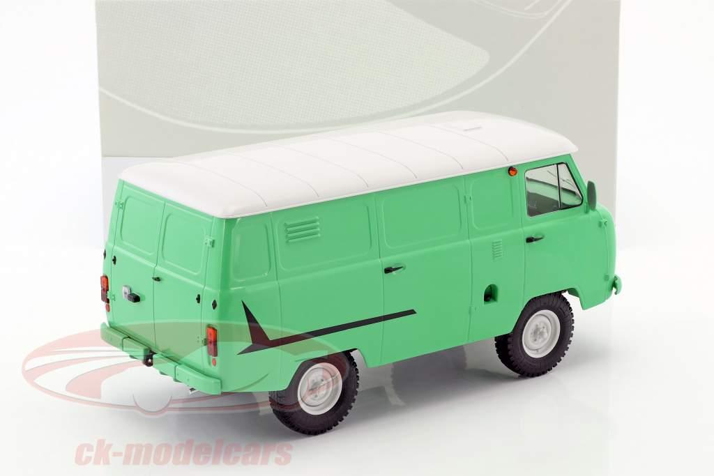 UAZ 452 (3741) furgone luminoso verde / bianco 1:18 Premium ClassiXXs