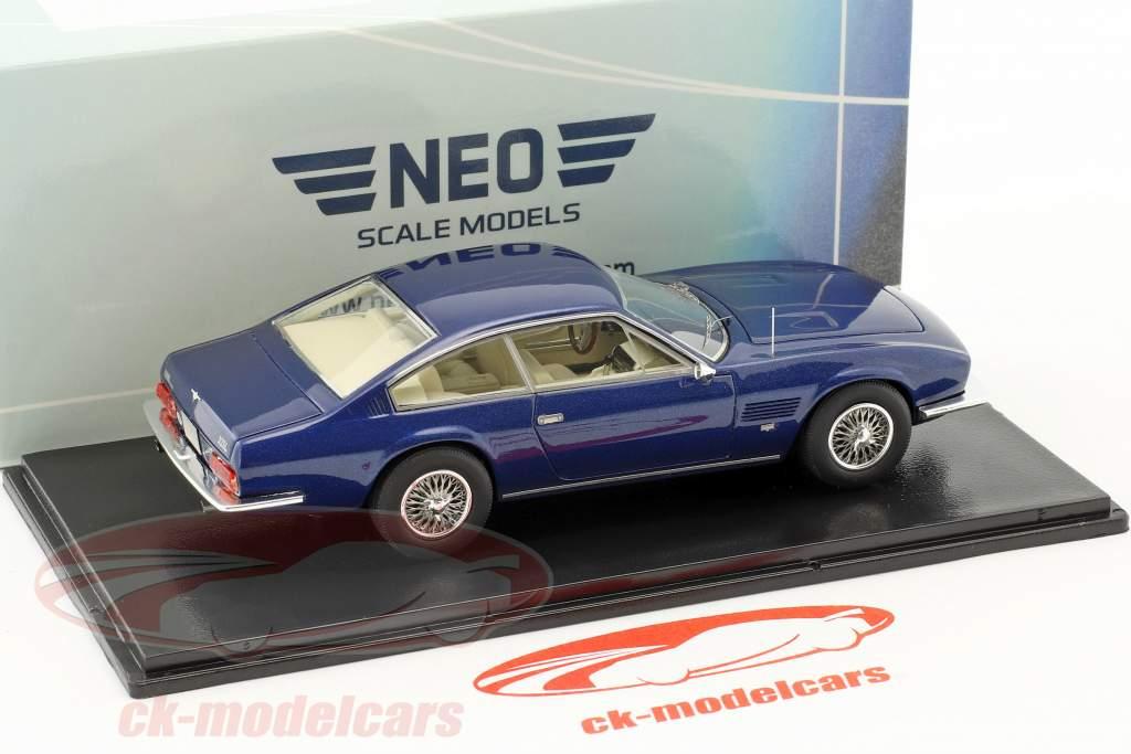 Monteverdi 375 L year 1969 blue metallic 1:43 Neo